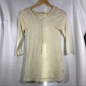 FREE PEOPLE Button Quarter Sleeve